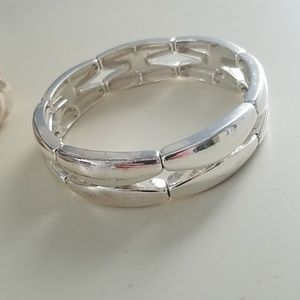 Napier Silver Stretch Bracelet